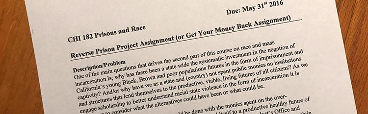 Figure 2: Reverse Prison Project Assignment (PDF).